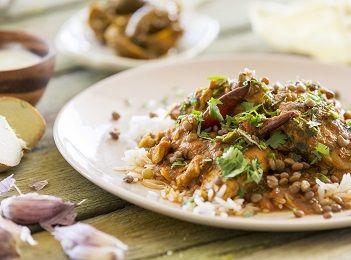 Chicken saag w basmati rice