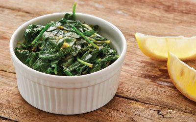 Spinach w lemon oil